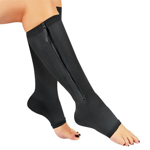 Hemptasic Black Compression Socks