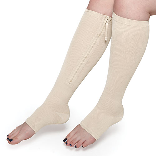 Hemptastic Cream Compression Socks