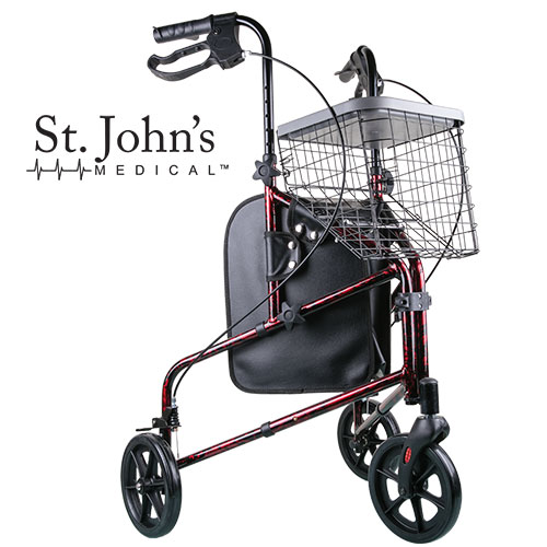 St. John's Medical 3-Wheel Walker