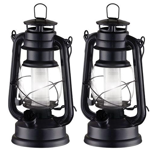 Black Vintage Lanterns - 2 Pack