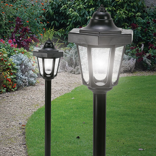 Solar Lamp Post - 2 Pack