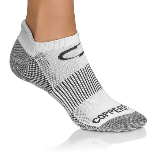 Copper Fit White Sports Socks - 3 Pack