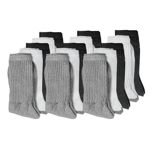 Fourcast Men's Combo Crew Socks - 15 Pack