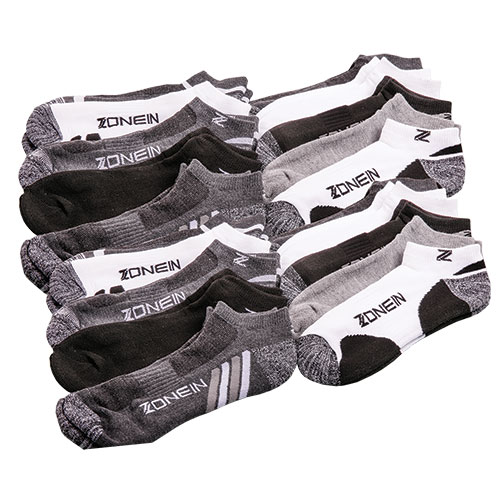 Zone In Men's Athletic Socks - 20 Pack