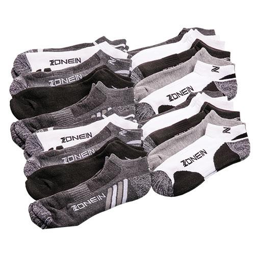 Zone In Men's Athletic Socks - 20 Pack