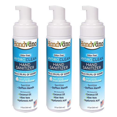 Handvana Hand Sanitizer Foam - 3 Pack