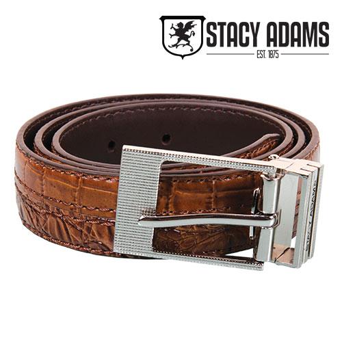 Stacy Adams Men's Cognac Crocodile Belt