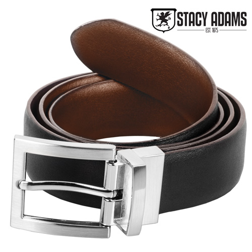 Stacy Adams Men's Brown and Black Reversible Belt