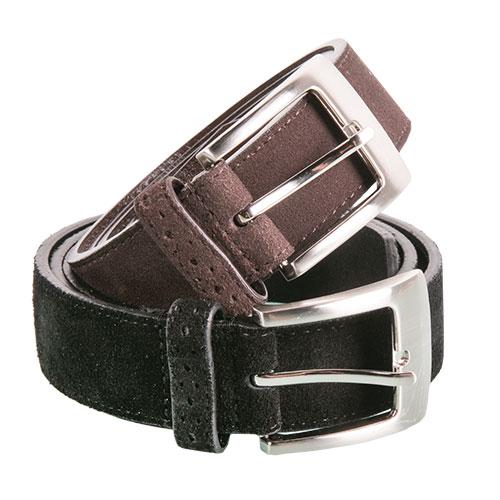 Stacy Adams Men's Black & Brown Suede Belts