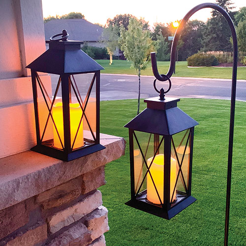 LED Pillar Candle Lantern - 2 Pack