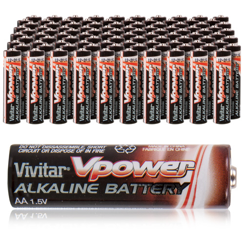Vivitar AA Alkaline Batteries - 100 Pack