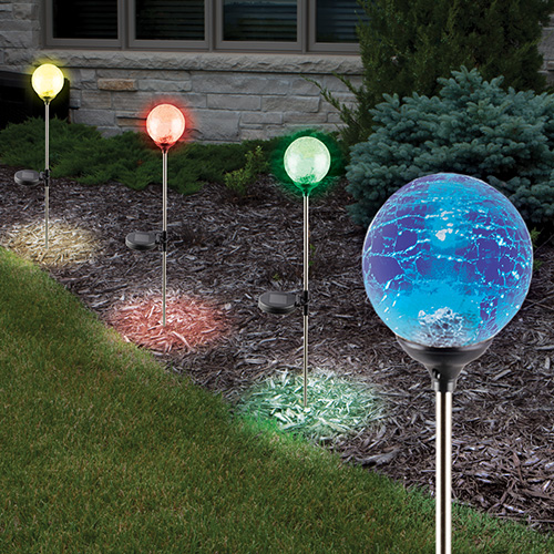 Sol Mar Crackled Solar Color Changing Lights