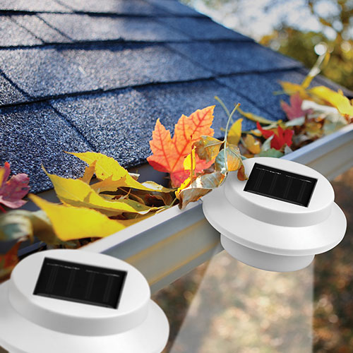 Solar Gutter Lights - 4 Pack