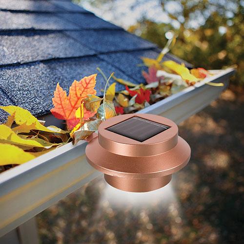 MSR Imports Copper Solar Gutter Lights - 4 Pack