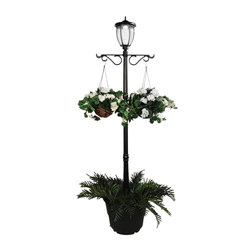 Nature Power Solar Light Post with Planter