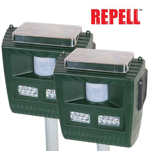 Repell 3-in-1 Solar Animal Repeller - 2 Pack