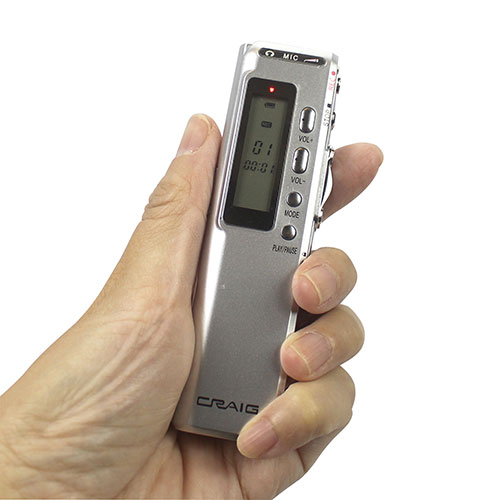 Craig 4GB Digital Voice Recorder