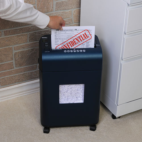 Royal SF910 100-Sheet Autofeed Micro-Cut Shredder - Navy