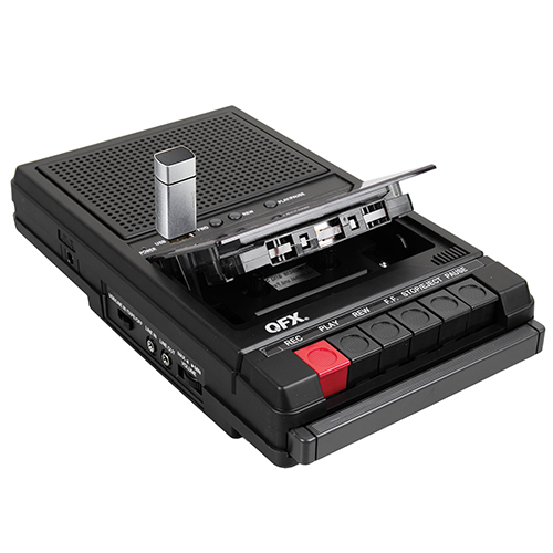 QFX Retro-39 Shoe Box Tape Recorder