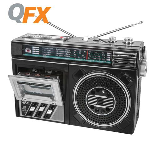 QFX Portable Radio Cassette Recorder
