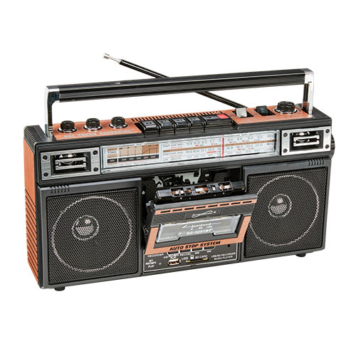 SuperSonic 4-Band Radio/Cassette Player - Wood