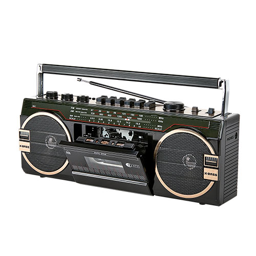 Borne Portable Radio with Cassette Player/Recorder