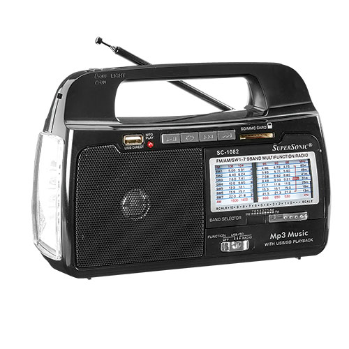 SuperSonic 9-Band Portable AM/FM Radio