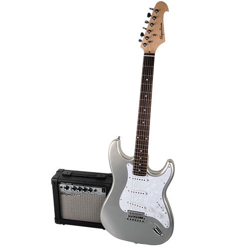 Spectrum AIL 278B Electric Guitar & AMP - Silver