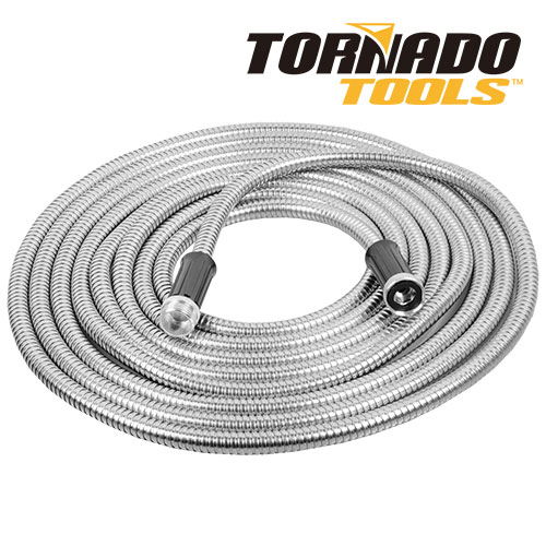 Tornado Tools Metal Garden Hose - 75 Ft.