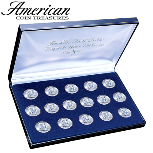 1948-63 Franklin Silver Dollar Set