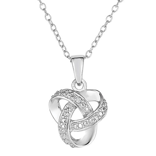 Jilco Women's Silver Love Knot Necklace