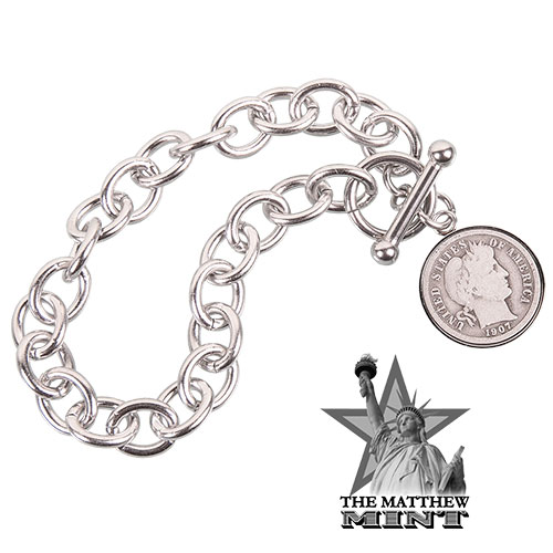 The Mathew Mint Barber Dime Toggle Bracelet