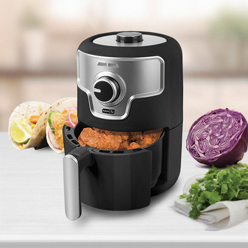 DASH 1.6 Quart Black Compact Air Fryer