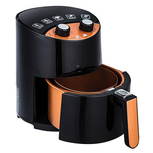 2.6 Qt. Black & Copper Air Fryer
