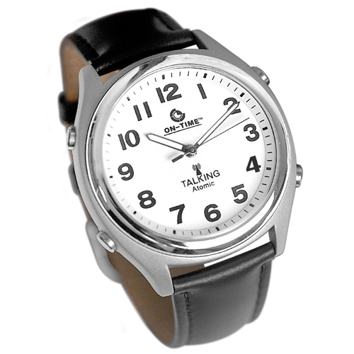 Talking Atomic Watch with Leather Band