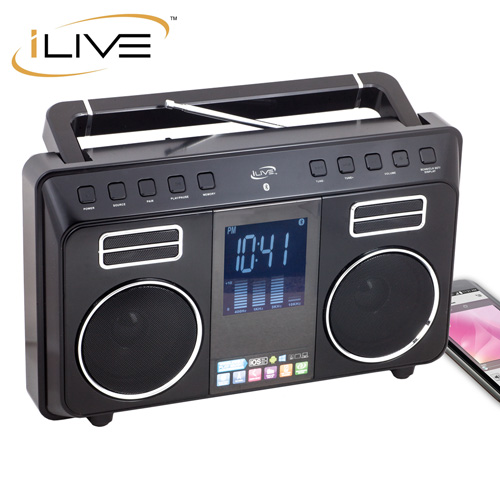 iLive FM/Bluetooth Boombox