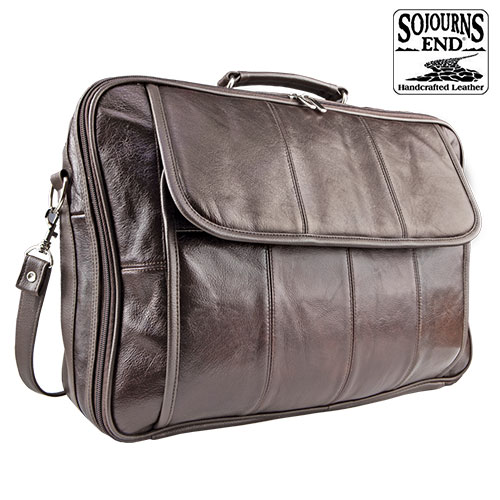 Sojourn's End Leather Briefcase