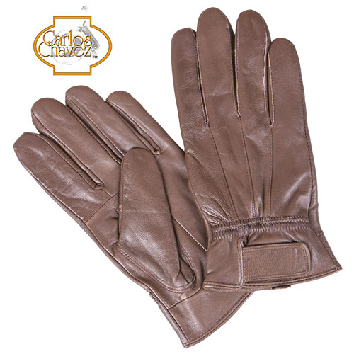 Leather Insulated Gloves - Brown
