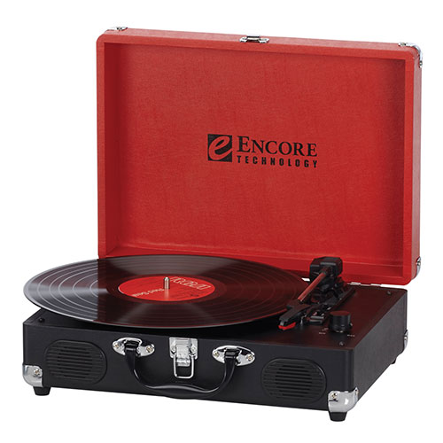Encore 3-Speed Suitcase Turntable