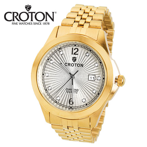 Croton Gold Diamond Watch