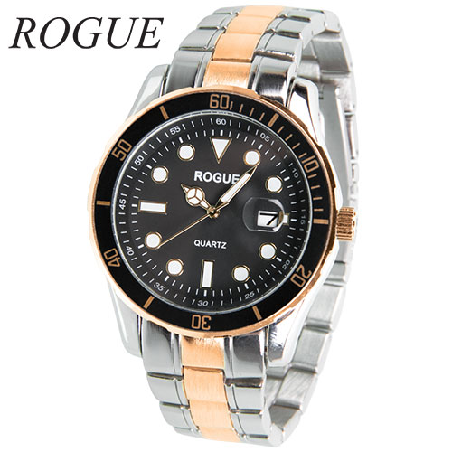 Rogue RG10551 Two-Tone Black Dial Watch