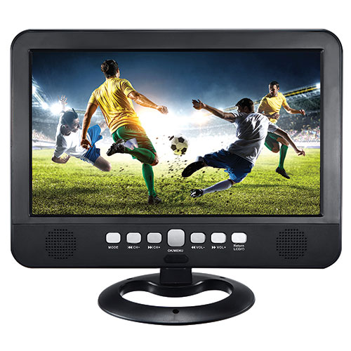 "QFX 10.1"" Rechargeable LCD TV"