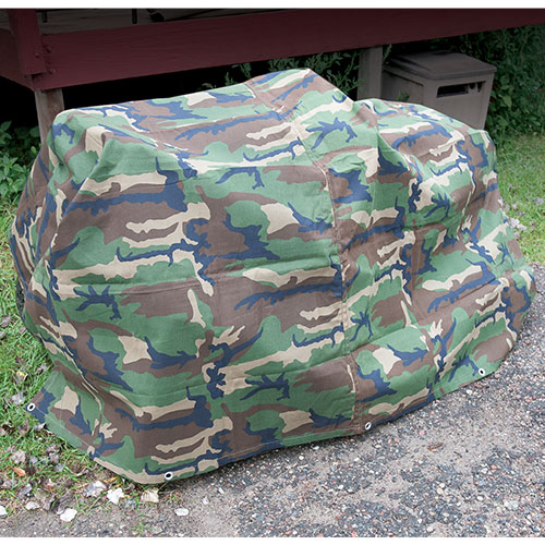 Camo Canvas Tarp