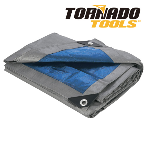 Heavy Duty Tornado Tools Blue 100GSM Tarp