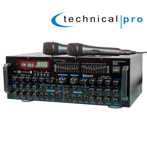 Professional Mixing Amp with 2 Mics