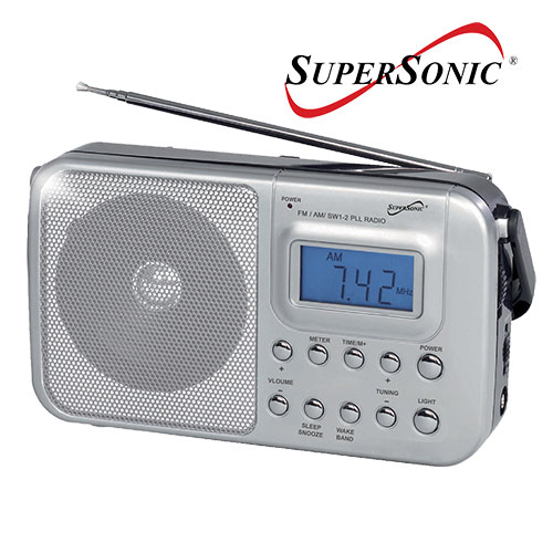 Supersonic SC-1091 Portable 4-Band Digital Radio