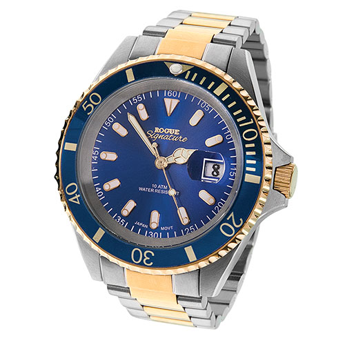 Rogue Men's Blue Two-Toned Mariner Watch