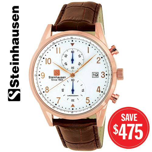 Steinhausen SO921 Brown/White/Rose Gold Lugano Watch