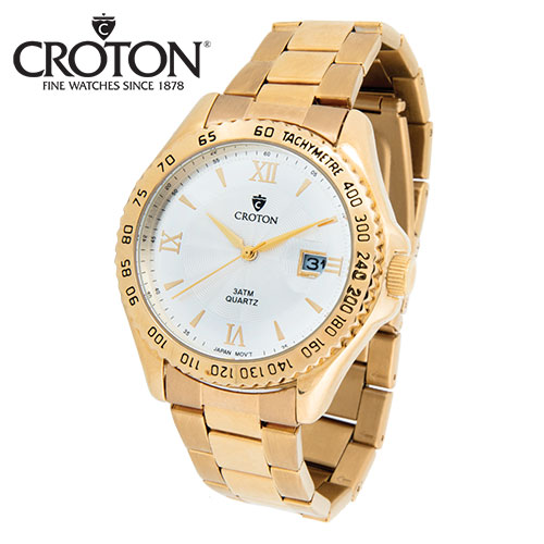Croton Roman Numeral Gold Watch