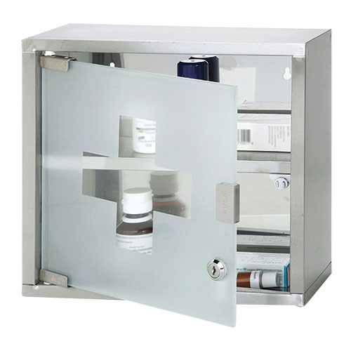 Lockable 2 Level Medicine Cabinet